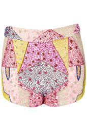Multi Scattered Beaded Shorts