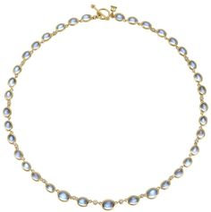 Graduated Oval Moonstone Necklace