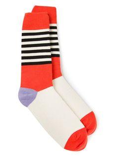 Socks by Artists – Henrik Vibskov | vanitysocks.com HENRIK VIBSKOV 'Bauhaus' socks Red,Blue,White