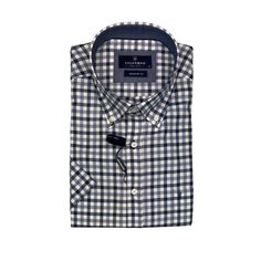 Check Shirt, navy, blue and white - regular fit, button down Button Down Collar, Button Downs, Button Down Shirt, Navy Blue, Blue And White, Check Shirt, Skinny Fit, Long Sleeve Shirts, Buttons