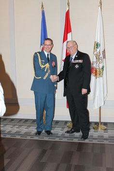 WO1 Tyler Chappell and Capt Bryan Lynch receiving Queens Diamond Jubilee Medal. - AlbertaAirCadetLeague - Picasa Web Albums