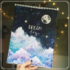 aprender a pintar isso . Art Watercolor, Watercolor Masking Fluid, Learn To Paint, Cool Drawings, Painting & Drawing, Moon Painting, Art Inspo, Cool Art, Art Projects