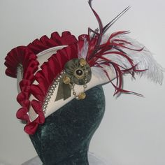 Custom Pirate Hat Any Color Felt Base Renaissance Tricorn Hat Made to Order or…
