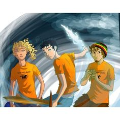 Percy Jackson / Annabeth Chase / Grover Underwood / Percy Jackson and the Olympians / The Lightning Thief art by Percy Jackson Fandom, Percy Jackson Y Annabeth Chase, Percy Jackson Fan Art, Percy And Annabeth, Percy Jackson Books, Thalia Grace, Magnus Chase, Percabeth, Solangelo