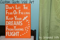 Custom Quote Wall Art: super easy DIY painting on canvas by Grounded Wife for the nursery