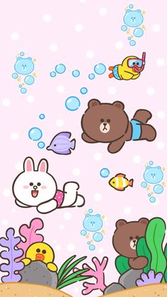 line friends \ line friends & line friends wallpaper & line friends brown & line friends sally & line friends cony & line friends wallpaper brown & line friends wallpaper iphone & line friends store Vs Pink Wallpaper, Lines Wallpaper, Kawaii Wallpaper, Cute Wallpaper Backgrounds, Aztec Wallpaper, Iphone Backgrounds, Screen Wallpaper, Iphone Wallpapers, Cute Love Pictures