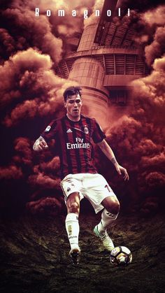 Milan Wallpaper, Football Wallpaper, Ac Milan, Iphone Wallpapers, Soccer, Logo, Style, Football Soccer, Swag