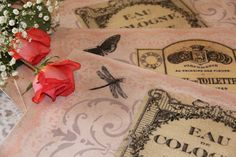 French Parfumerie Placemats by MediterraneaDesigns on Etsy, $69.00