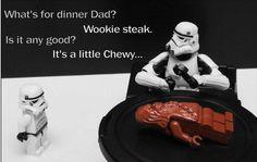 Storm Trooper Wookie steak