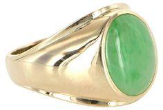Men's Jade Oval Ring