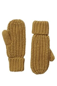 Chunky knit mittens from MONKI