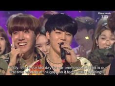 [ENG SUB] 160515 BTS - FIRE 3rd win speech at Inkigayo