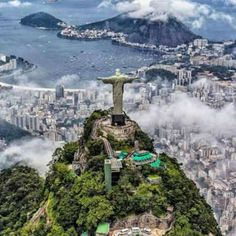 """Colossal statue of Jesus Christ at the summit of Mount Corcovado, Rio de Janeiro, Brazil ~ OLYMPIC CITY 2016 💝💝💝"" Best Honeymoon Destinations, Travel Destinations, Wonderful Places, Beautiful Places, Places To Travel, Places To Visit, Vacation Places, Christ The Redeemer Statue, Jesus Christ"