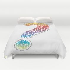 what where who why Duvet Cover