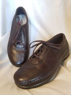 Details about SAS tripad comfort womens shoes sz 9 W The traveler brown  leather oxford USA