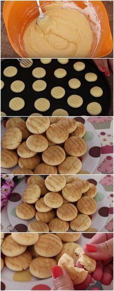 Biscoitinhos de Leite Condensado que Derretem na Boca ( fácil e delicioso ) #biscoito #leitecondensado #cookie #receita #gastronomia #culinaria #comida #delicia #receitafacil