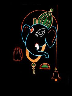 Ganesha Painting - 29 Varaganapati by Kruti Shah Shiva Art, Krishna Art, Hindu Art, Radhe Krishna, Arte Ganesha, Ganesha Rangoli, Jai Ganesh, Ganesh Lord, Ganesha Drawing