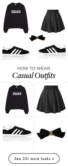 """""""My fashion"""" by dancer6925 on Polyvore featuring adidas and Chanel"""