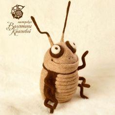 Needle Felted Bug by Valentina Krasnova