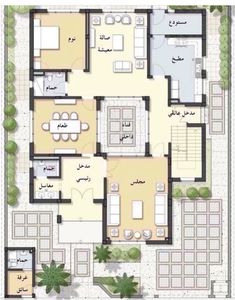 Square House Plans, 3d House Plans, Model House Plan, House Layout Plans, Family House Plans, Luxury House Plans, House Layouts, House Floor Design, Small House Design
