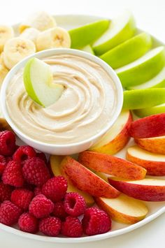 This Peanut Butter Fruit Dip is SO good.