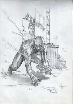 Dell'Otto - Spiderman sketch from 2008 Dell'Otto Sketchbook , in Fab Tag's Italy - Dell'Otto, Gabriele Comic Art Gallery Room