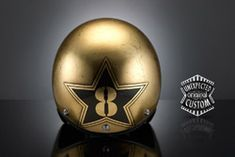 custom motorcycle helmet golden eight