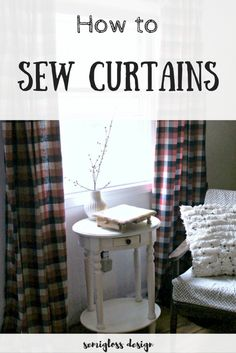 how to sew curtains | how to sew curtains for beginners | easy curtains | curtains tutorial | step by step curtains | DIY curtains | how to sew curtain panels | how to make curtains | simple curtains | unlined curtains