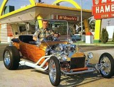 for more vintage cars hot rodz and kustoms Classic Hot Rod, Classic Cars, Old Hot Rods, T Bucket, Us Cars, Race Cars, Custom Cars, Hot Wheels, Vintage Cars