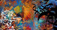 Arabic Calligraphy by Khalid Shahin, via Behance