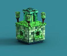 "diegotespiegoさんのツイート: ""Ancient Temple. #pixelart #magicavoxel https://t.co/Nu2EcXtFCL"""