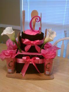 Bridal Shower Dish Cloth Cake
