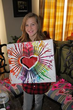 Valentine's Day box. Inspired by a Pinterest crayon art.