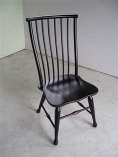 Custom Made Black Forest Style Dining Chair