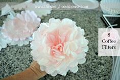 How To Make Coffee Filter Peonies {Super Easy!} How To Make Coffee Filter Peonies {Super Easy!} How To Make Coffee Filter Peonies {Super Easy!} - The Stonybrook House<br> How To Make Coffee Filter Peony Flowers Coffee Filter Roses, Coffee Filter Wreath, Coffee Filters, Coffee Filter Art, Coffee Filter Projects, Coffee Filter Crafts, Paper Flowers Diy, Flower Crafts, Fabric Flowers