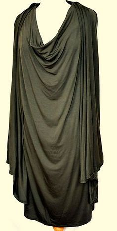 CALVIN KLEIN Very Artsy Draped Neckline Stretch Jersey Knit Dress Sz 18W PLUS $44.99