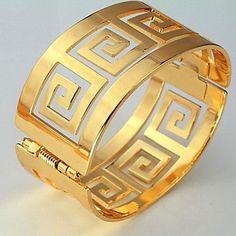u7® 60mm hombres o 18k de oro real de las mujeres de la vendimia pulseras plateadas g carta brazaletes brazalete brazalete 1082925 2017 – $30.785