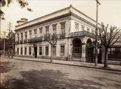 Escola Politécnica - 1920 - Av. Tiradentes - a Caixa d'agua à esquerda foi bombardeada na revolução de 1922