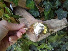 Leaf Fibula Brooch  brass