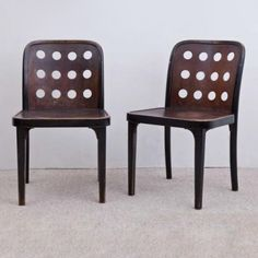 Nr 811 Dinner Chair by Josef Hoffmann for Thonet
