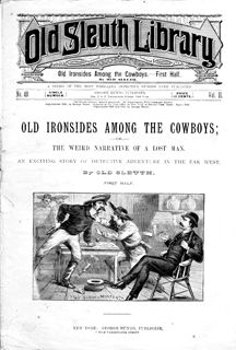 Seriously, how cool does this story look just from the cover? The answer is, yet again, very cool. With a cover like that, you know exactly what you're getting. There's going to be a bar fight in the Old West with surly, unshaven and probably stinky men, (likely with fun names) who take pride in their guns and refuse to die as long as they're wearing their boots. I really wish dime novels still existed. If nothing else for the supreme simplicity and for taking the reader on a romping good…