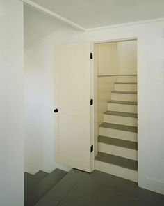 I love the hidden stairs behind a door. To go to an attic