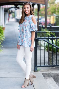 """""""Associated Perfection Top, Sky Blue""""After laying eyes on this top we definitely associate it with the word perfection! #newarrival #shopthemint"""