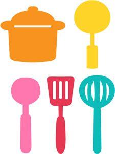 free printable kitchen clip art kitchen utensils clip art royalty rh pinterest com  kitchen utensil clipart