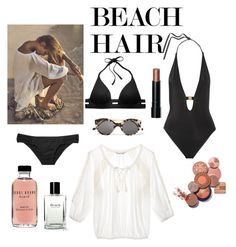 """""""Easy breezy beach hair"""" by mstc ❤ liked on Polyvore featuring beauty, Victoria's Secret, L'Agent By Agent Provocateur, Illesteva, Bobbi Brown Cosmetics and beachhair"""