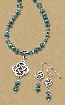Blue Pearl Celtic knot