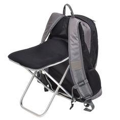 サンコー「どこでも座れるリュックPlus」。椅子とリュックを合体した製品。行列に並んだ際に、椅子に変形して休むことができる。災害用のリュックとして役立ちそう。