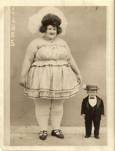 Circus Sideshow - Circus Fat Lady with Circus Midget