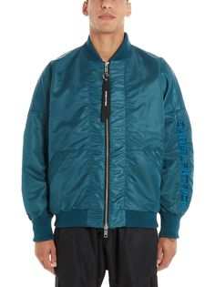 Jacket From Daniel Patrick: Nylon Embrodiered Logo Bomber JacketComposition: NYLON Daniel Patrick, Green Jacket, Teal Green, Bomber Jacket, Mens Fashion, Long Sleeve, Model, Jackets, Clothes