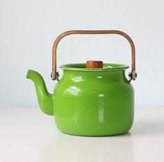 because I love green and I love tea. green teapot